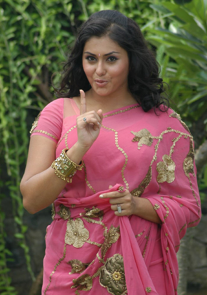 Pink Sari Namitha  Designer Saree Information-7897