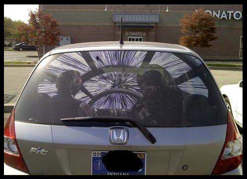Jimsmash Sweet Star Wars Rear Window Sticker For