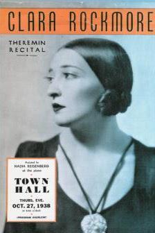 Cartel del recital de theremin por parte de Clara Rockmore en el Town Hall de Nueva York en 1938