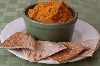 Original Photo Slow Roasted Tomato Hummus found on KalynsKitchen.com