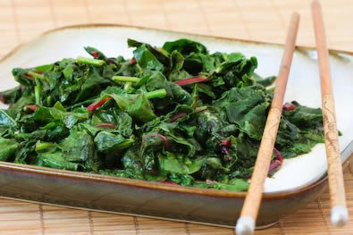 Stir-Fried Radish Greens and Chard