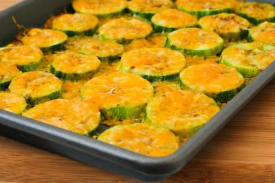 Original photo for Val's Kid-Friendly Broiled Zucchini with Mozzarella and Pepperoni found on KalynsKitchen.com.