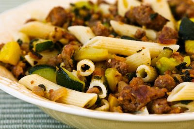 ... Kitchen®: Rustic Pasta Sauce with Italian Sausage, Zucchini, and Sage
