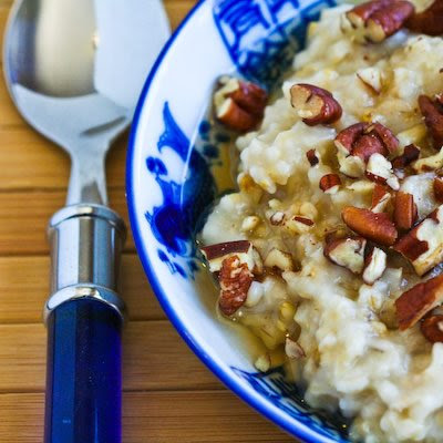 Steel-Cut Oats with Agave and Pecans