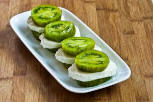 Green Goddess Tomato-Mozzarella Stacks found on KalynsKitchen.com