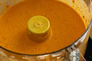 Roasted Red Pepper and Garlic Aioli Sauce found on KalynsKitchen.com