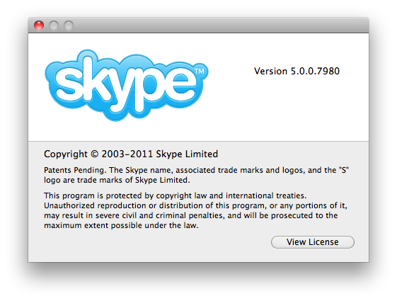 Skype 5.0 Final is now available for Mac OS X