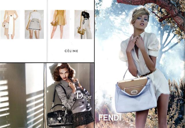 Аня Рубик для весенне-летней кампании Fendi 2010.
