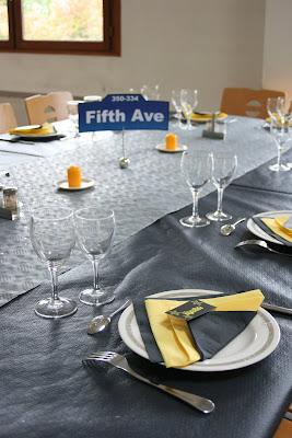 Nom de table sur le thème New york