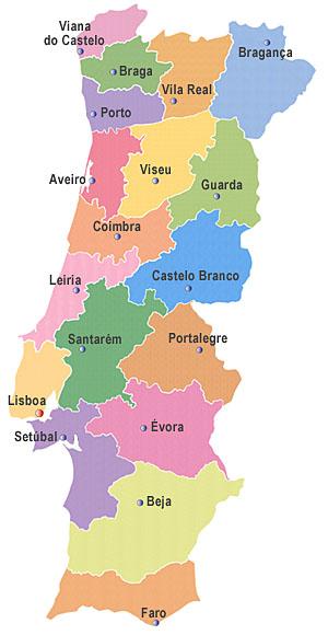 mapa de portugal com cidades vilas e aldeias estrategiaeexcelencia: DISTRITOS DE PORTUGAL mapa de portugal com cidades vilas e aldeias