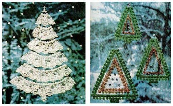 Serendipity Handmade: Vintage Christmas Tree Window Decorations Tutorial
