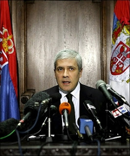 Serbian President Boris Tadic gives a statement in Belgrade. The UN's top court on Monday cleared Serbia of direct involvement in genocide during the war in Bosnia, but said Belgrade did breach international law by failing to prevent the 1995 massacre at Srebrenica.