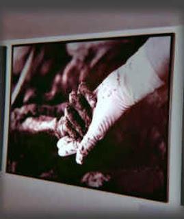 Srebrenica Massacre - Genocide of over 8,300 Bosniaks - hand from the mass grave...