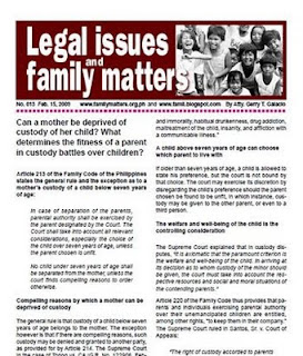 Free PDF newsletter can a mother be deprived of custody of her child