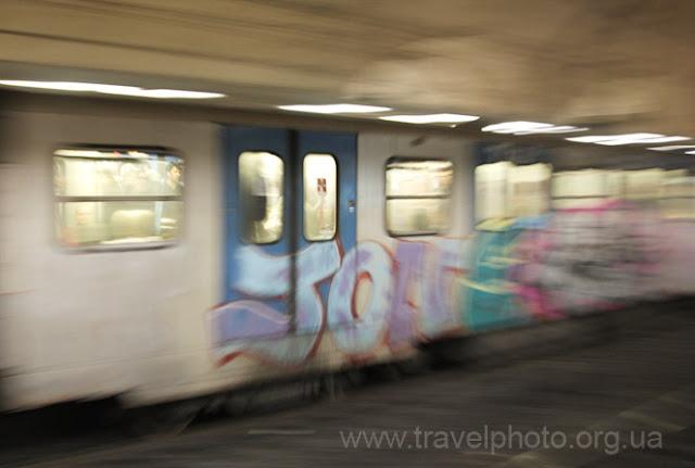 Графити в метро Рима