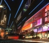 The crazy world of Gatchaman is a city of light!