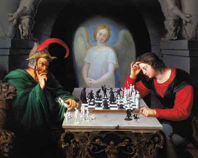 American Con Artist: The Chess Players - your move, Devil!