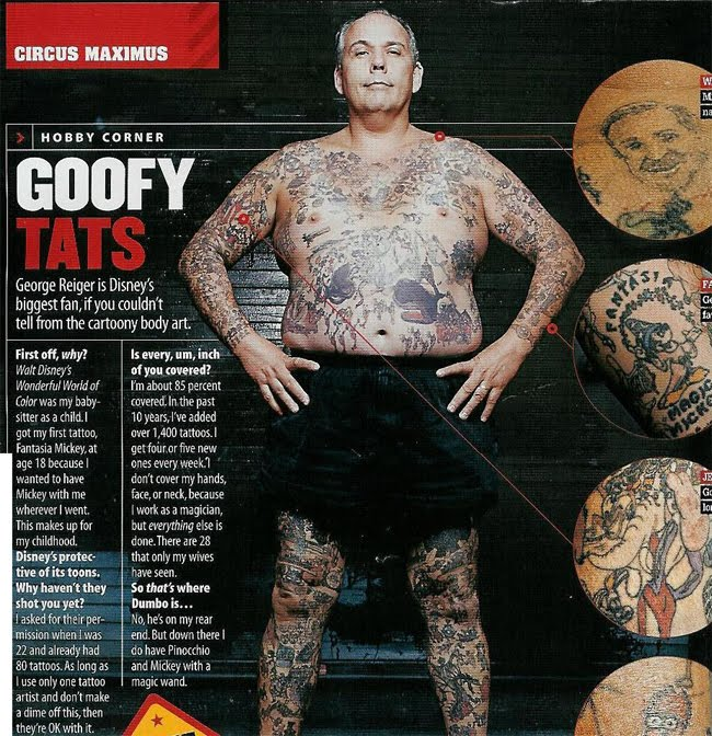 2197fe4caaa6c The Disney Tattoo Guy. I remember seeing this guy on Oprah years ago.