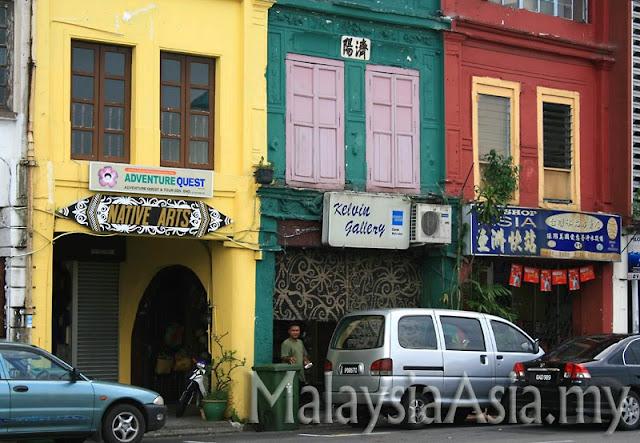 Shops at Kuching Main Bazaar