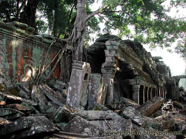 Fallen Section Ta Prohm Temple