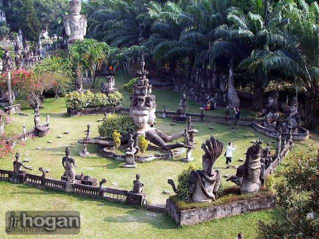 Buddha Park in Vientiane Laos
