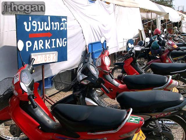 Motorbikes in Vientiane