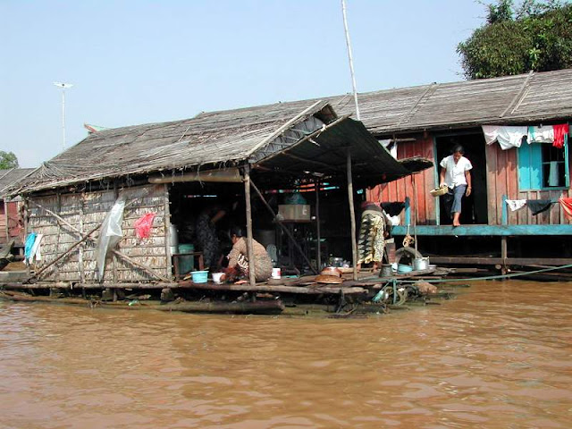 Floating home at Tonle Sap