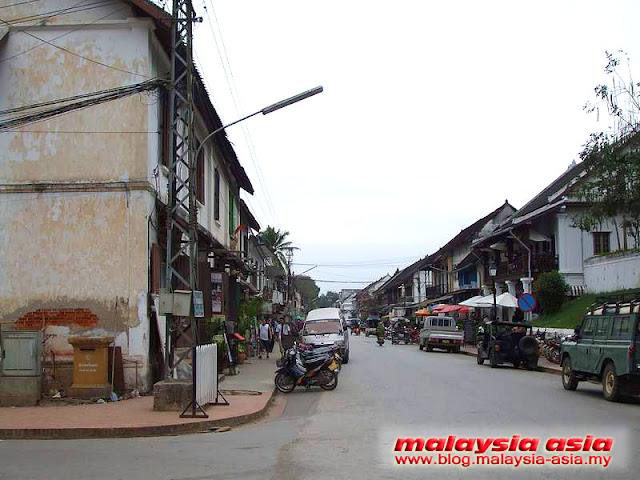 Main street of Luang Prabang