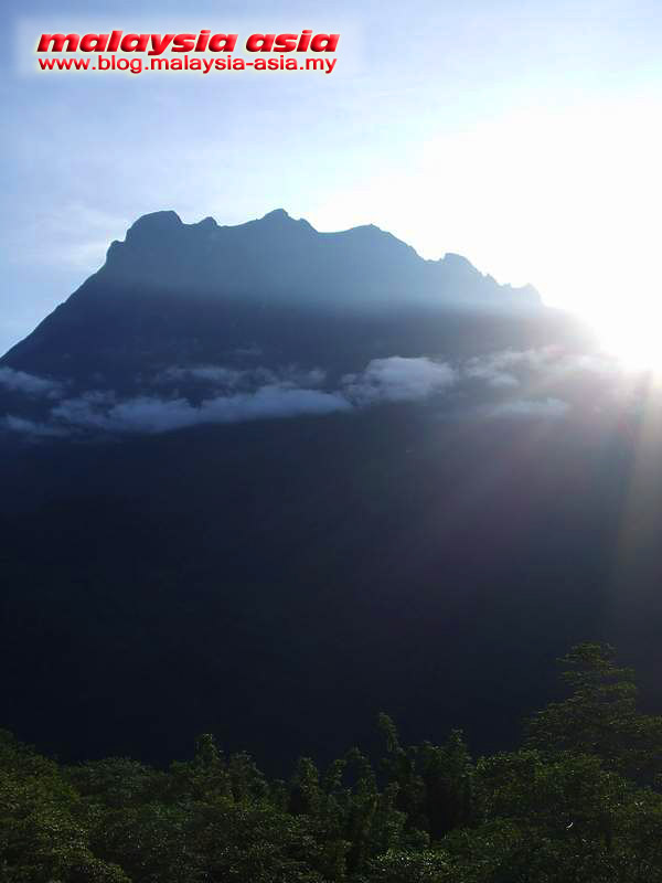 Sun Rising at Mount Kinabalu