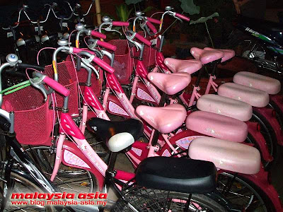 Laos Bike Rental Hello Kitty