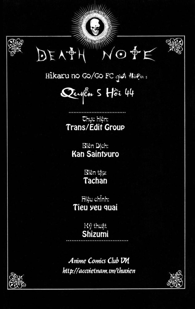 Death Note chapter 044 trang 1