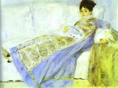 "Pierre Auguste Renoir: ""La señora Monet leyendo Le Figaro"" (1872). Lisboa."