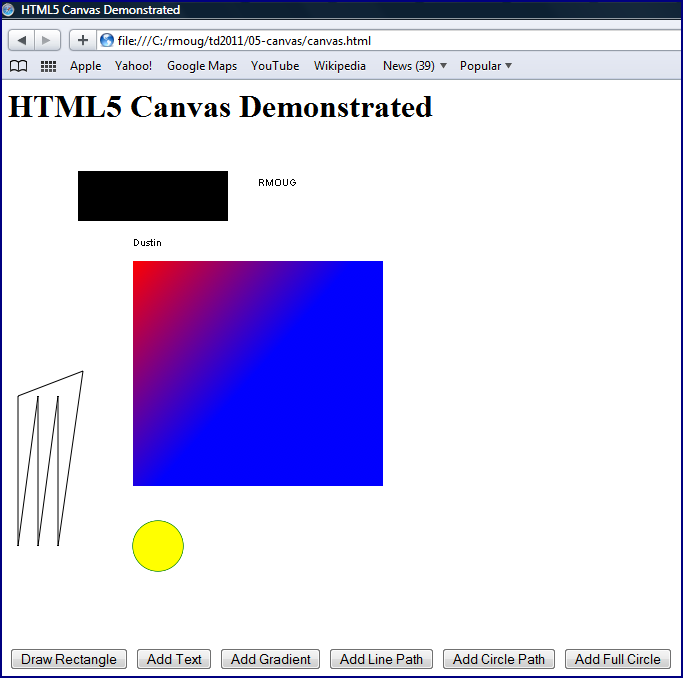 Inspired by Actual Events: HTML5 Canvas