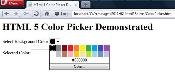 HTML5 Color Picker | JavaWorld