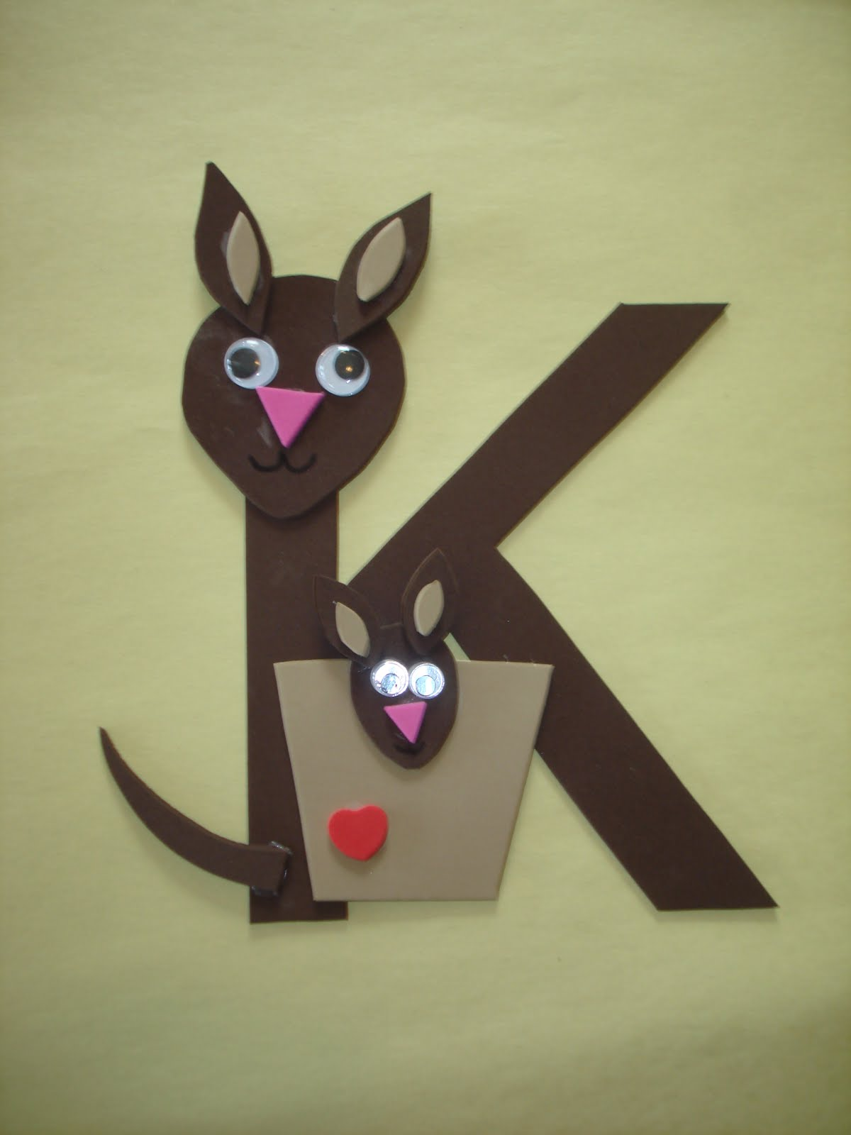 Arts and crafts for 3 year old - Letter K Kangaroo Craft Christmas Art 3 Year Olds