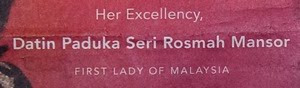 ad in New York Times that named Rosmah falsely as First Lady of Malaysia