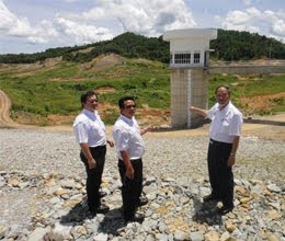 Kudat dam completed but without water and source