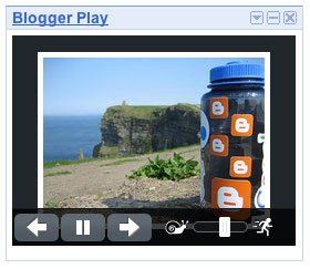 Add the Blogger Play Gadget to your iGoogle home page.