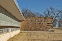 Great facade on Muskogee elementary school.