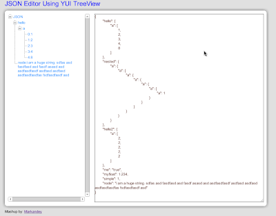 Markandey's Blog: JSON Editor Using YUI TreeView