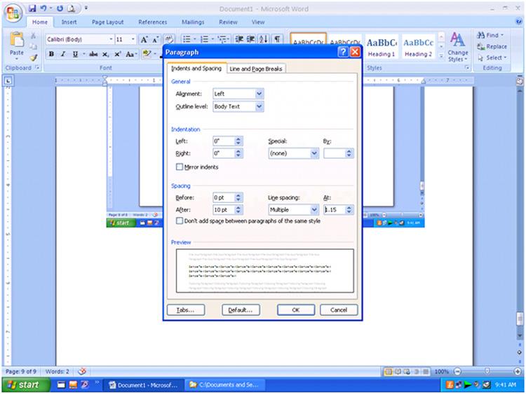 Microsoft Word Subscript Symbol