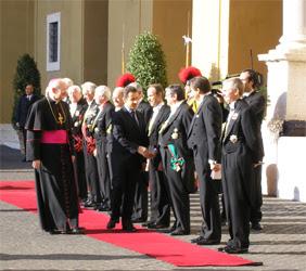 nicolas sarkozy, vatican, rome, rome en images, italie
