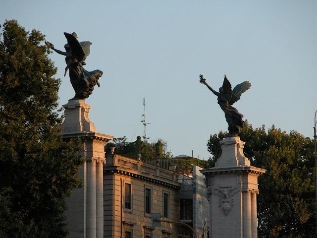 pont saint ange, ponte sant'angelo,rome en images, rome, italie