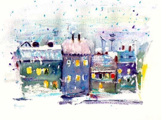 margrit baumgartner sauter weihnachtsbilder aquarelle. Black Bedroom Furniture Sets. Home Design Ideas