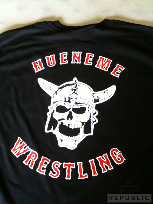 REconnect with your PUBLIC REPUBLIC Hueneme High School Wrestling Team Tshirts
