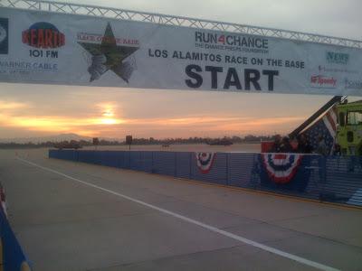 start line sunrise