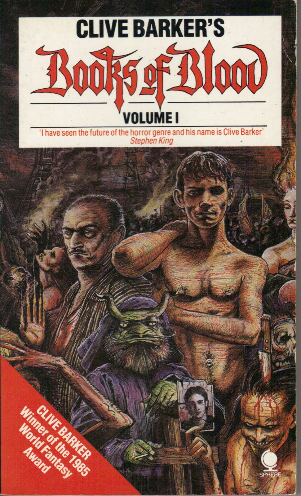 blood books barker clive volume vol 1984 horror too much author horrornews fiction sphere paperback head