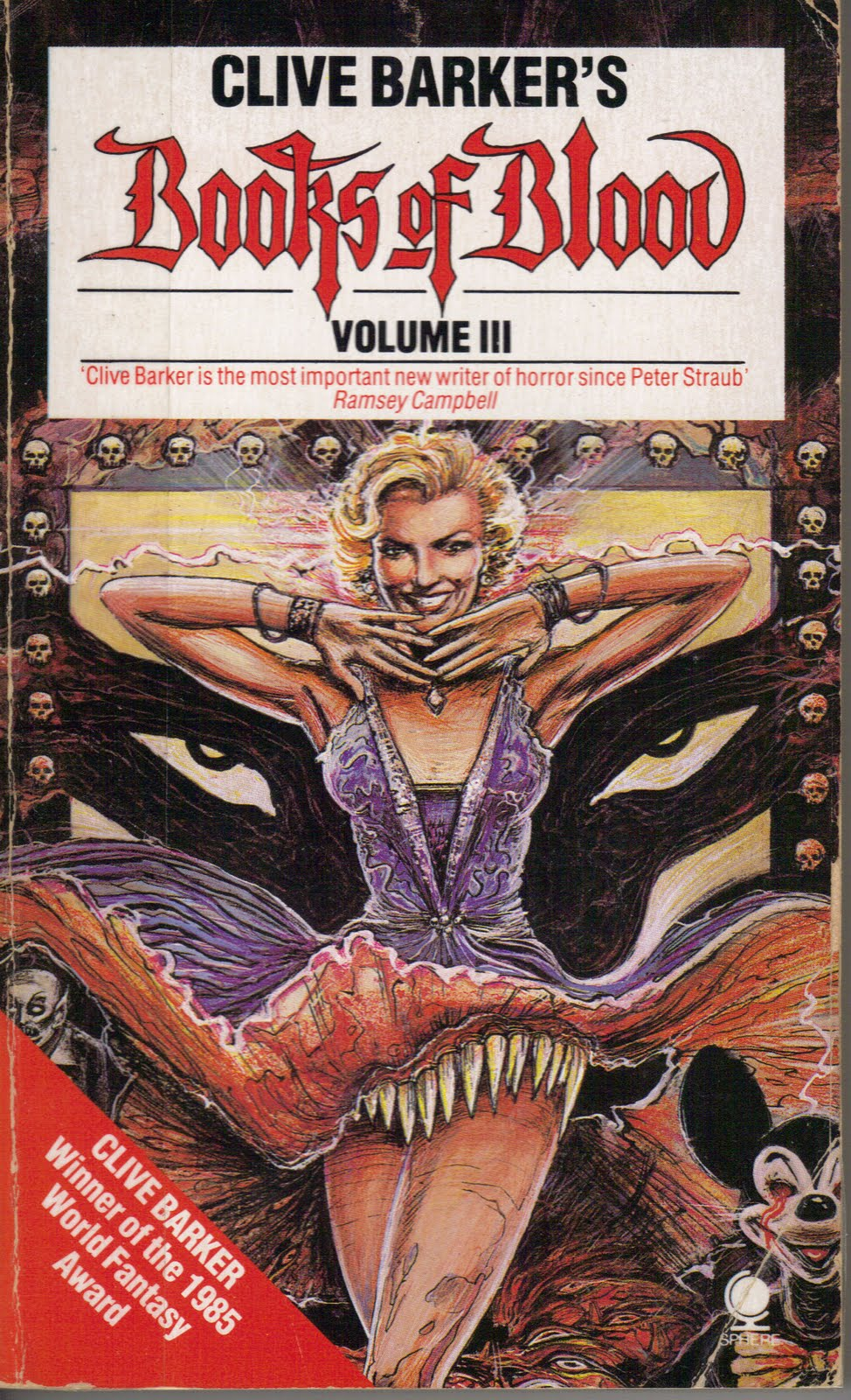 clive barker blood books horror fiction volume fuckable weaveworld vol movie movies 1984 films too much fantasy fur