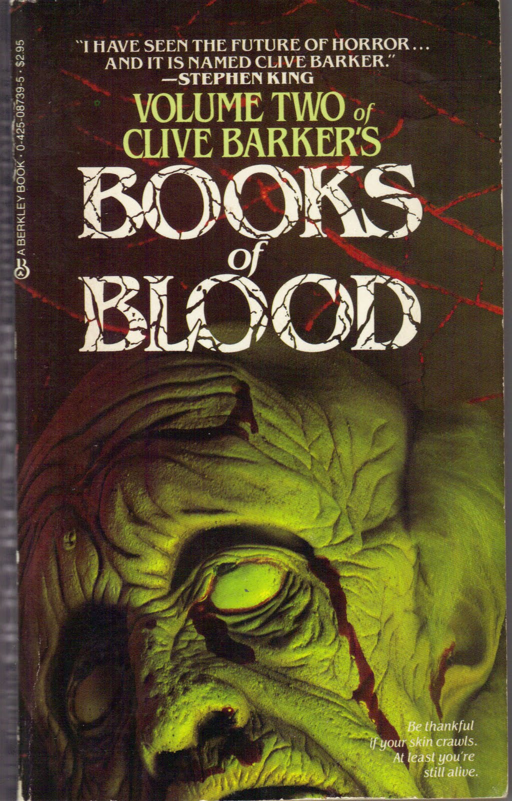 clive barker blood books volume horror dread vol covers fiction novel barkers 1984 revisiting written too much berkley ii which