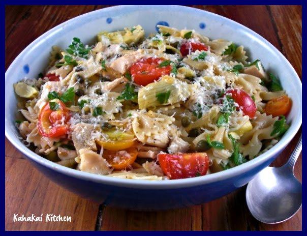 Kahakai Kitchen: Chicken Piccata Pasta Salad, Road Testing